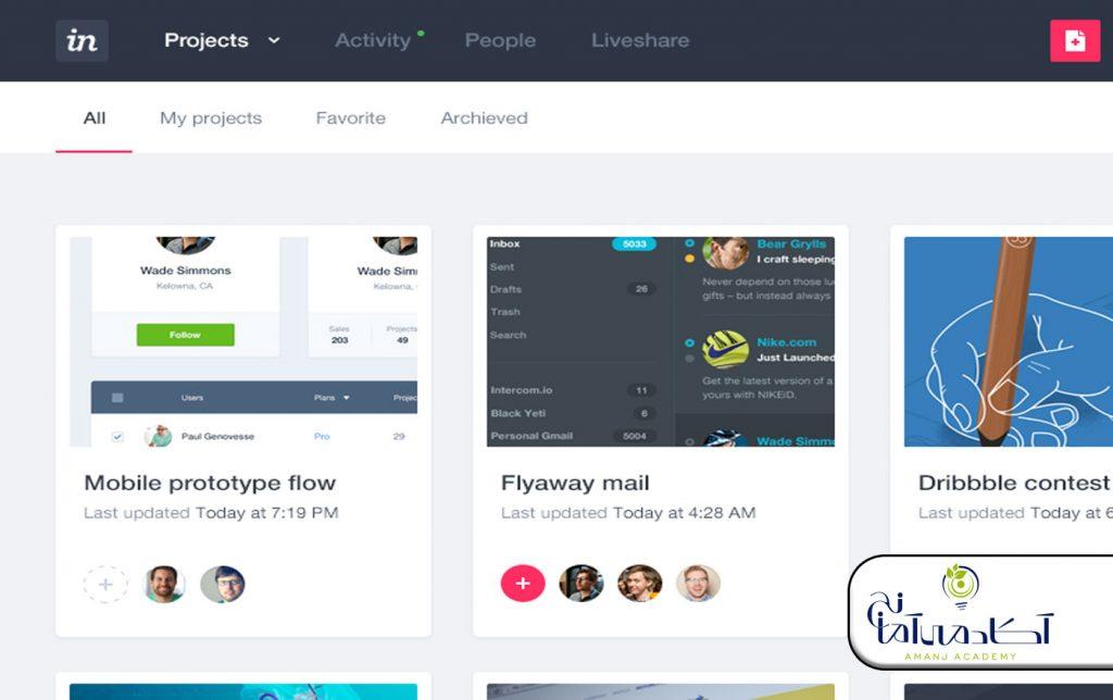 InVision | طراحی ui/ux