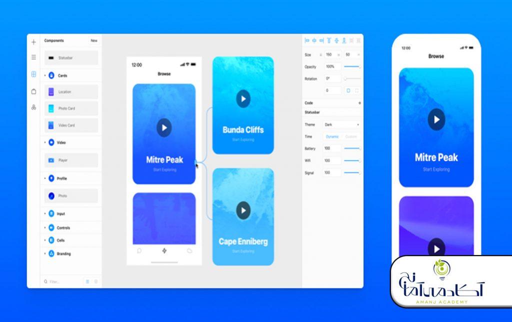Framer | ابزارهای طراحی ui/ux