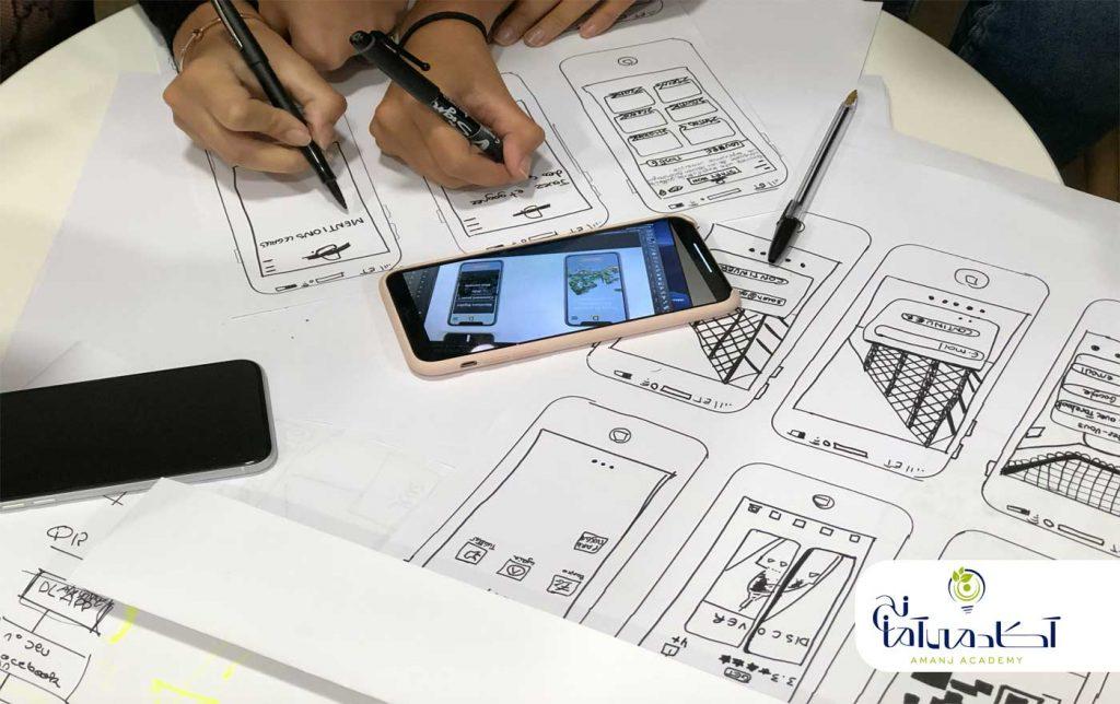 تمرین طراحی ux