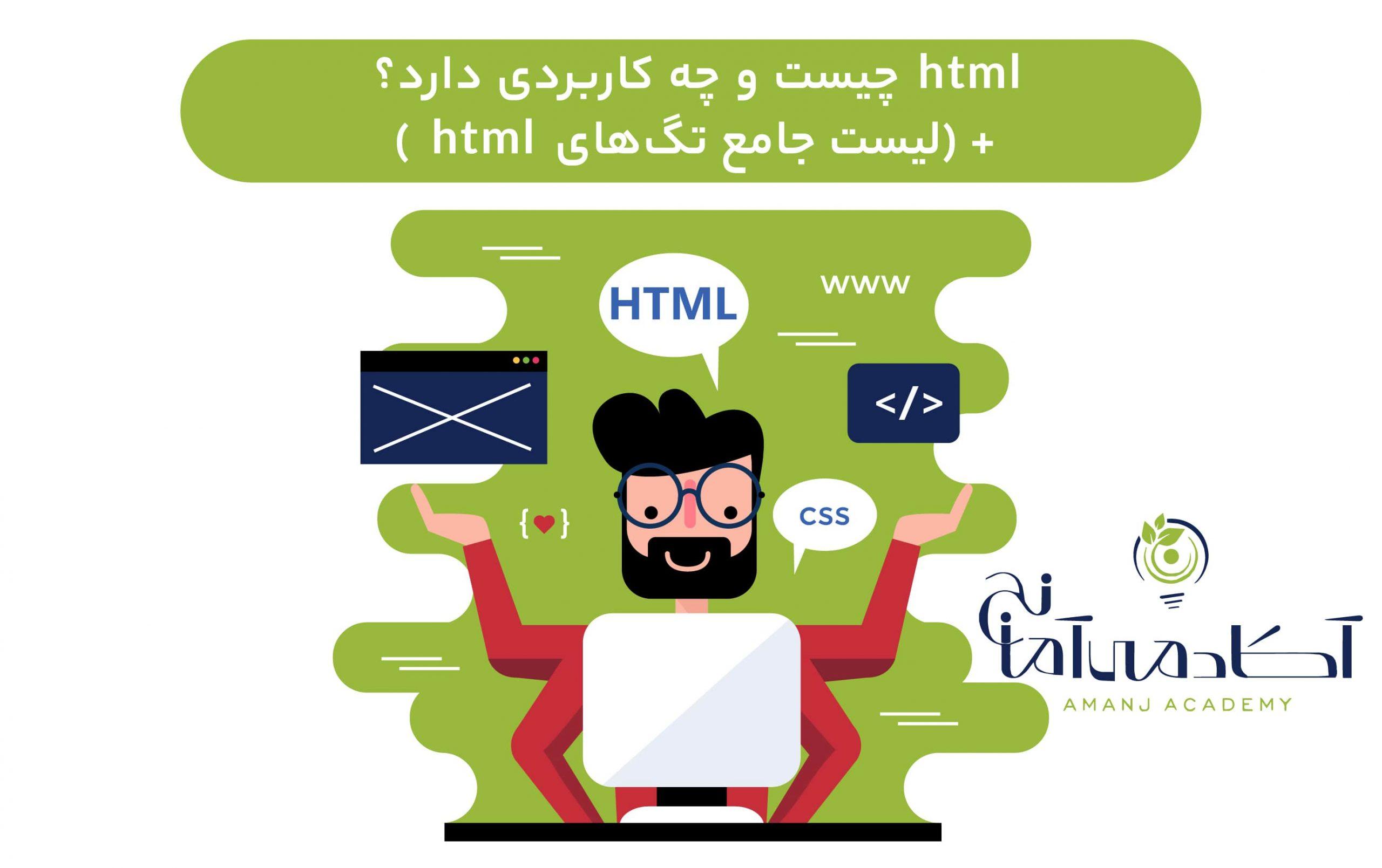 html در طراحی سایت